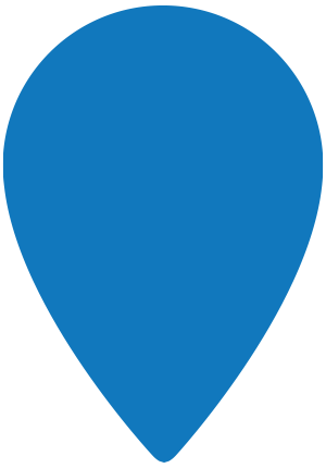 Blauwe marker
